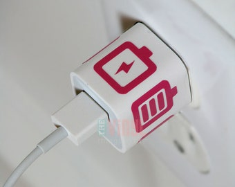 Charger wrap sticker, Charger decal for iPhone, Charger decal, Vinyl charger decal, Charger wrap