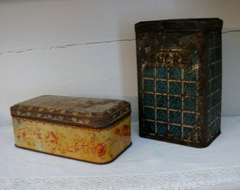 Lot of two boxes metal old French