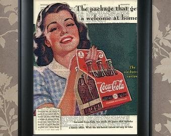 Coca Cola, 1, Coca Cola advert, Coca Cola vintage, Coca Cola print, Coca Cola poster, Coca Cola gift, Coca Cola old, Coca Cola decor