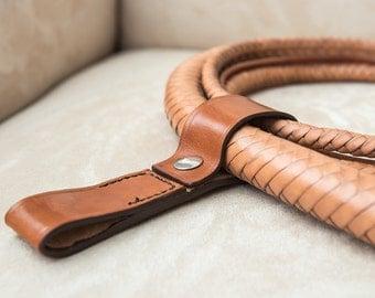 Leather Bullwhip Belt Clip - Bridle Hide. BWC001