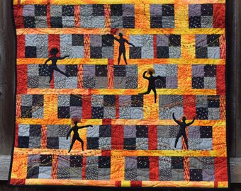 Fiber Art, Wall Hanging, Contemporary Art Quilt, fiber art, wall hanging, home decor, African art quilt, wall art quilt, contempory art