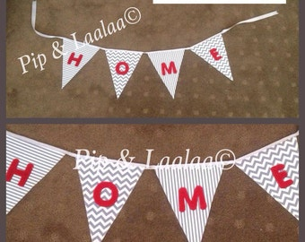 "Funky ""Home"" bunting - made to order"