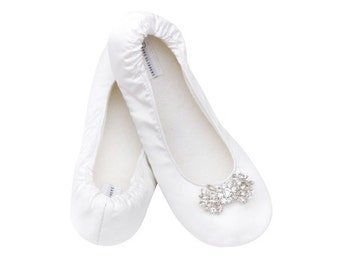 Bridal Slippers Size 5 12 Satin Great Dancing Shoes For The Reception White