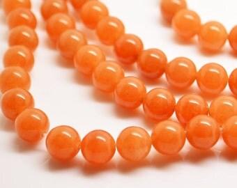 15.5 Inch Full Strand  Peach Aventurine 8MM  Round  Bead