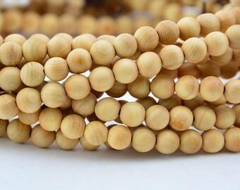 108PC Natural Slight Fragrant Cypress Bead  6mm Mala Finding, Buddhism Bead Wood Bead