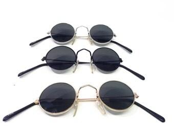 Vintage sunglasses John Lennon style SILVER frame