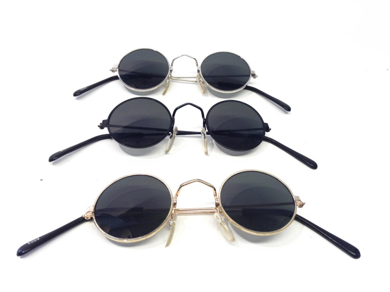 c17d0c4639ee Vintage sunglasses John Lennon style GOLD frame