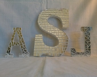 Mirror mosaic letters