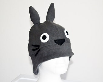 Totoro Fleece Hat with Earflaps