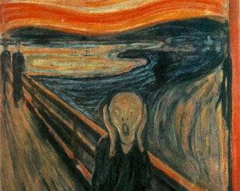 "The Scream by Edvard Munch, 8""x10"", Giclee Print on Canvas"