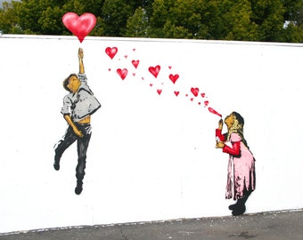 First Love, Graffiti Art by Above, Giclee Print on Canvas, various sizes
