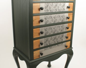 Upcycled vintage music cabinet