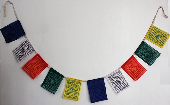 Tibetan Prayer flags Lungta flag Wind horse by TheLittleTibet