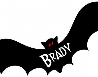 Halloween Bat Personalized Iron On Transfer