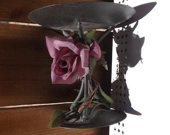 Candle Holder - Vintage - Roses - L 330