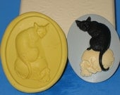 Black Cat Skull Push Mold Food Safe Silicone Cake Chocolate Resin  A242 Candy Jewelry