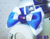 Star Wars/Disney Inspired R2 D2 Handmade Hair Bow