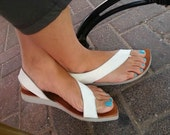Final SALE,   white sandals  , handmade  leather  sandals .