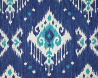 Blue Ikat  Valance .Valance Curtain. Ikat  valance.-Indigo Ikatl-Various Widths. (Matching Pillow & Table Runner Options Available)