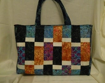 Blue/Purple Batik 6-Pack Bag