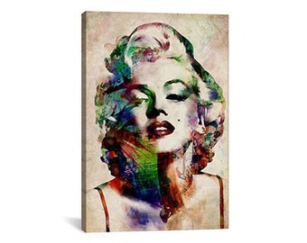 Watercolor Marilyn Monroe Canvas Print | Gallery Framed | 20% off SALE at Checkout Use Coupon Code: FEB20A