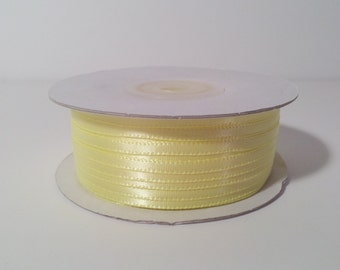 "1/8"" and 1/16"" Baby Maize Double Face Satin Ribbon - 100 Yards"