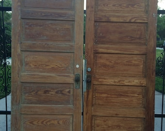SALE PRICE REDUCED  Old Wood Doors, Antique Wood Doors, Old Doors, Doors, Wood Doors, Vintage Wood Doors, Farm Doors