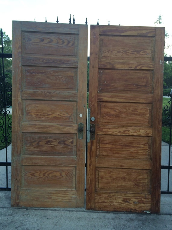 Old Wooden Doors : Sale price reduced old wood doors antique