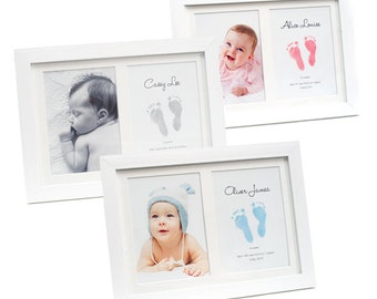 Keepsake Frame with BABYink® Colour Ink-less Print Kit - Non-Toxic, Baby Safe - Handprint | Footprint | Keepsake  | Baby Gift