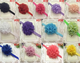 U Pick Wholesales Tulle Mesh Flower Headband Baby Headbands. Newborns Headbands. Girl's Headband YTH10