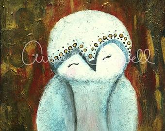 "Darling Owl 8'X10""Art Print"