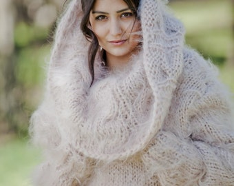 Free Knitting Pattern Mohair Cowl : Mohair knit cowl Etsy