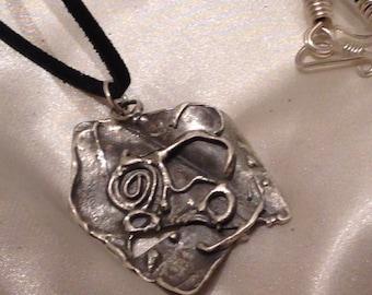 sterling silver weareable art pendant