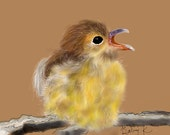 Chickadee's Spouse-  Original Digital Artwork by K. Schowe