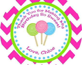 Sweet Shoppe Candyland Thank You Favor Tags - Printable DIY Party Decorations