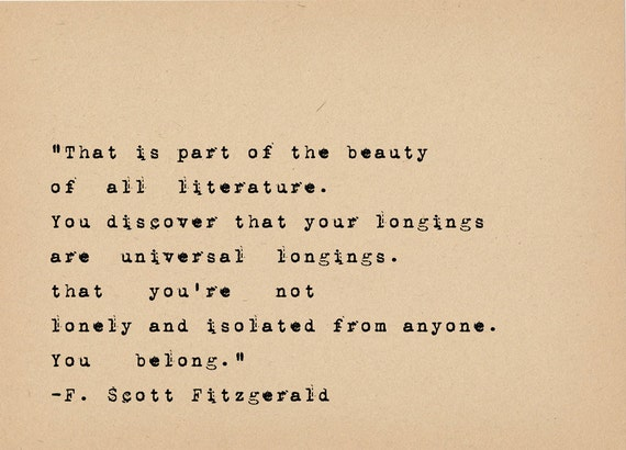 Quotes About Love 1920s : Fitzgerald Quote - Book Lover Art - Literary Art Quote Print - 1920s ...
