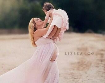 Lianna Maternity Gown/ chiffon maternity dress