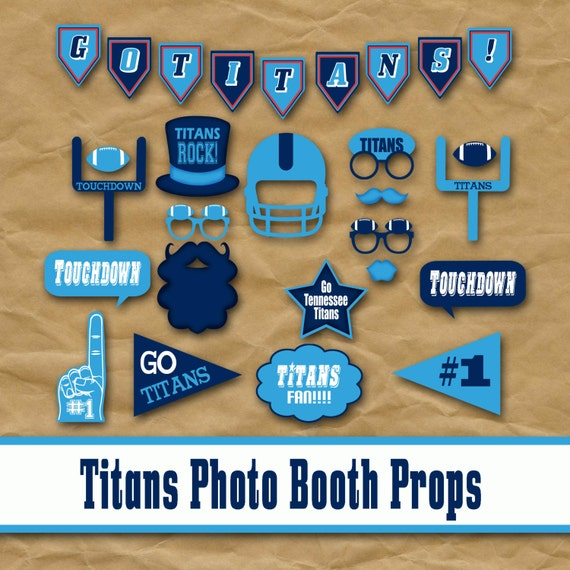 Tennesse Titans Football Printable Photo Booth Props