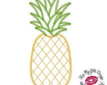 Pineapple Chainstitch Machine Embroidery Applique Design