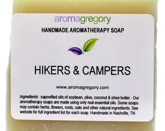 Hikers Campers Soap - Repells Mosquitoes Ticks and Fleas - natural handmade soap to repell insects