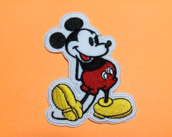 Iron on Sew on Patch:  Classic Mickey