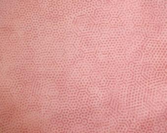 Andover Fabrics Dusty Rose Honeycomb Print fabric 337