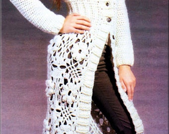 Stunning Crochet Full Length Autumn/Winter Coat - Made to Order