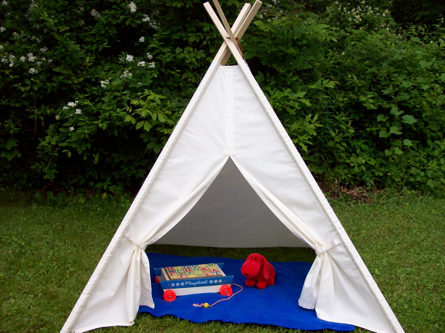 Large Muslin Unbleached Teepee Kids Play Tent Childs