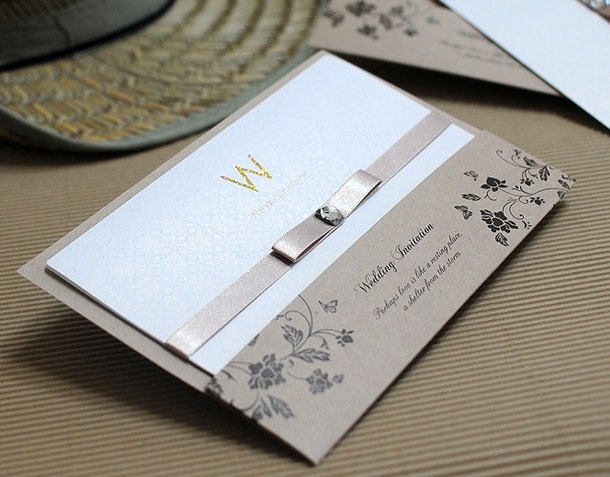 25 wedding invitations eco friendly recycled paper With wedding invitations recycled brown paper