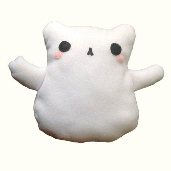 Items similar to pdf pattern ghost cat plush felt for Felt cat toys diy