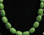 SALE!!!Geuine Green Turquoise Necklace Natural