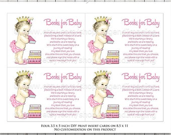 Bring a Book Baby Shower Cards