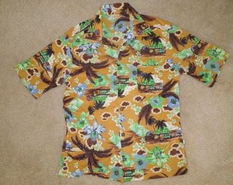 Vintage 60's Hang Ten Hawaiian Shirt Size M