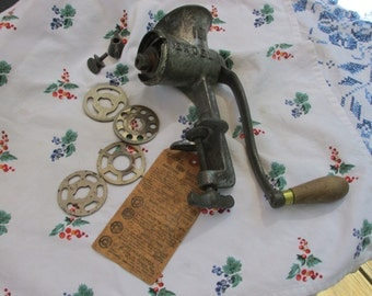 Meat Grinder with Accessories - Excel 101 - Cast Iron - Vintage